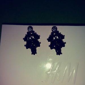 H & M black earrings